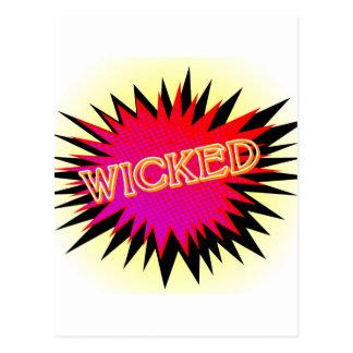 Cartoon Wicked Postcard
