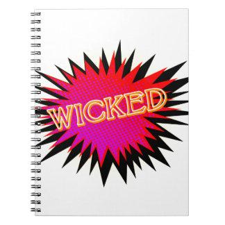 Cartoon Wicked Spiral Notebook