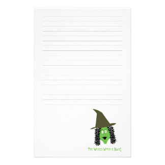 Cartoon wicked witch lined stationary stationery