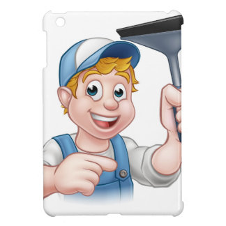 Cartoon Window Cleaner Squeegee Character Cover For The iPad Mini