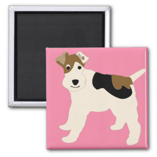 Cartoon Wire Fox Terrier Magnet