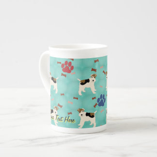 Cartoon Wire Fox Terrier Tea Cup