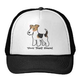 Cartoon Wire Fox Terrier Trucker Hat