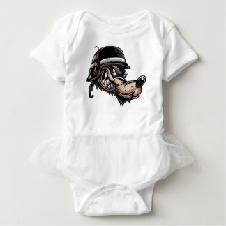 Cartoon Wolf Baby Bodysuit