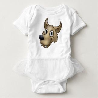 Cartoon Wolf Character Mascot Baby Bodysuit