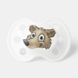 Cartoon Wolf Character Mascot Pacifier