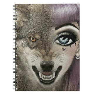 Cartoon Wolf Girl Notebook