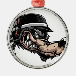 Cartoon Wolf Metal Ornament
