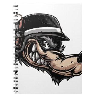 Cartoon Wolf Notebook