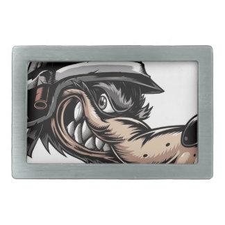 Cartoon Wolf Rectangular Belt Buckle