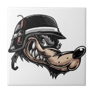 Cartoon Wolf Tile