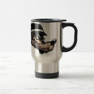 Cartoon Wolf Travel Mug