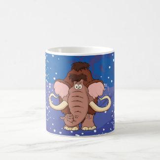 Cartoon Woolly Mammoth Coffee Mug