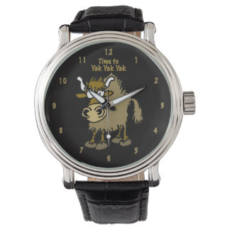 Cartoon Yak on a Watch. Watch