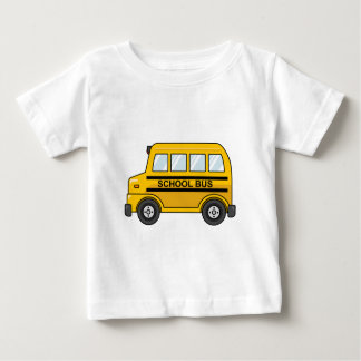 Cartoon Yellow and Black School Bus Baby T-Shirt