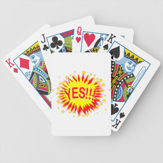 Cartoon Yes Bicycle Playing Cards