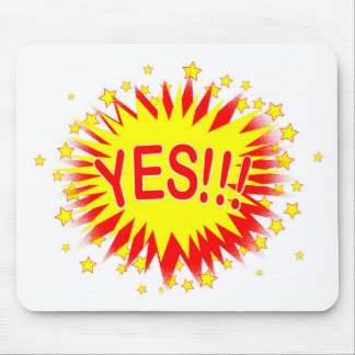 Cartoon Yes Mouse Pad