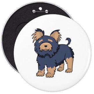 Cartoon Yorkshire Terrier 6 Inch Round Button