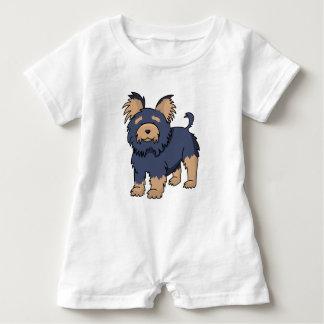 Cartoon Yorkshire Terrier Baby Romper