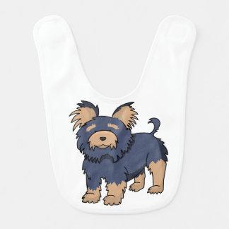 Cartoon Yorkshire Terrier Bib