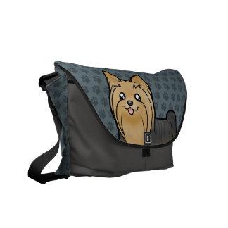 Cartoon Yorkshire Terrier (long hair no bow) Commuter Bag