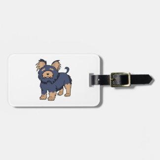 Cartoon Yorkshire Terrier Luggage Tag