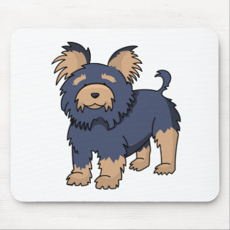 Cartoon Yorkshire Terrier Mouse Pad