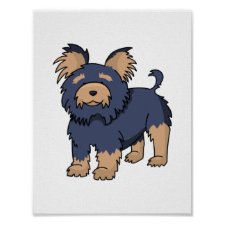 Cartoon Yorkshire Terrier Poster