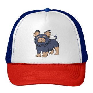 Cartoon Yorkshire Terrier Trucker Hat