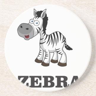 cartoon zebra coaster