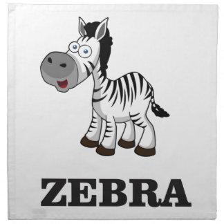 cartoon zebra napkin