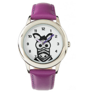 Cartoon Zebra Watch