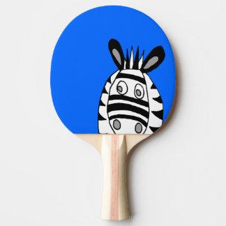 cartoon zebras ping pong paddle
