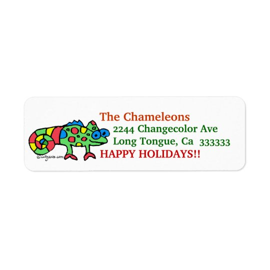 CartoonChameleon Address Label Stickers
