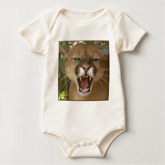 Cartooned Cougar Baby Bodysuit
