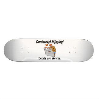 Cartoonist Missing Details Sketchy Skateboard