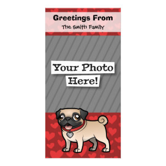 Cartoonize My Pet Custom Photo Card