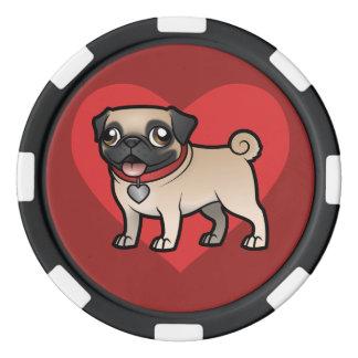 Cartoonize My Pet Poker Chip Set