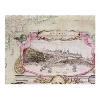 Cartouche of Quebec Postcard