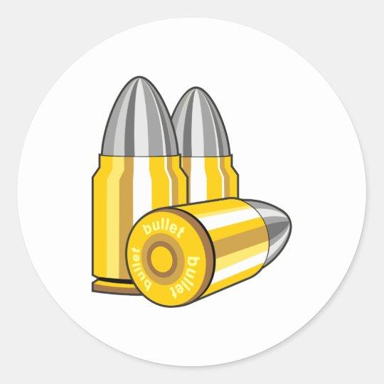 Cartridges bullets classic round sticker