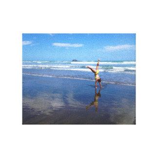Cartwheel on the Beach Canvas Print