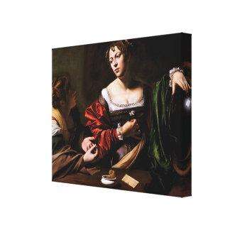 Carvaggio Art Work Canvas Print