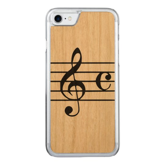 Carved Apple iPhone 7 Wood Case - Musical
