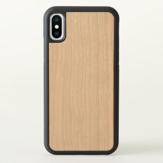 Carved Apple iPhone X Bumper Wood Case