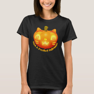 carved cat pumpkin purrfect halloween tshirt darks