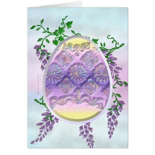 Carved Easter Egg Card