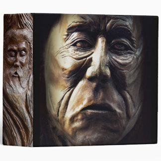 Carved Faces in Wood Binder