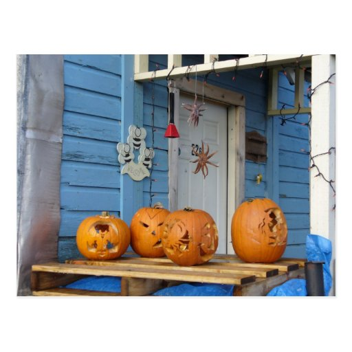 Carved Halloween Pumpkins Post Cards