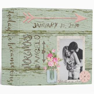 Carved In Wood Wedding Album 3 Ring Binder