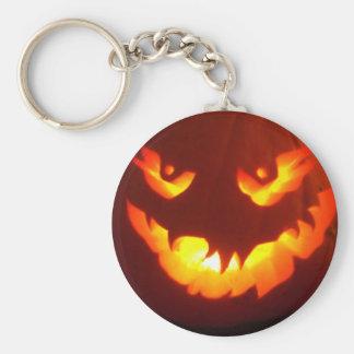 Carved Jack o lantern Basic Round Button Keychain